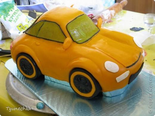 Вот такой получился торт-МАШИНА... Нелёгкая оказалась работа, я вам скажу, но результатом  осталась более-менее  довольна:))) фото 3