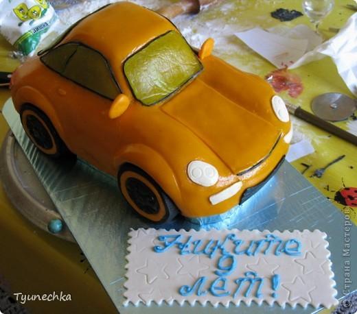 Вот такой получился торт-МАШИНА... Нелёгкая оказалась работа, я вам скажу, но результатом  осталась более-менее  довольна:))) фото 4