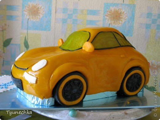 Вот такой получился торт-МАШИНА... Нелёгкая оказалась работа, я вам скажу, но результатом  осталась более-менее  довольна:))) фото 1