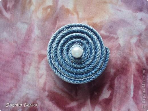 Резинки для волос из джинса фото 1