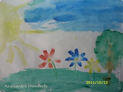 Сегодня старшая дочь порадовала своим рисунком, принесенным из школы фото 5