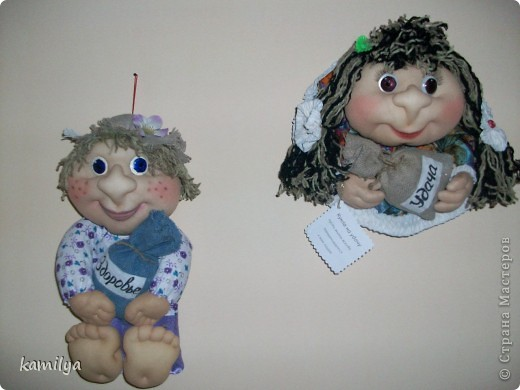 вот таких кукол сделала маме в подарок фото 1