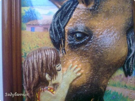 Подарок от Ирочки!!! Замечательное панно: лошадка и девочка фото 3