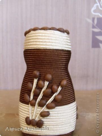 Моя баночка из под кофе и для кофе - повторюшка. Очень понравилась идея http://stranamasterov.ru/node/241407?c=favorite решила сделать себе такую же.  фото 1