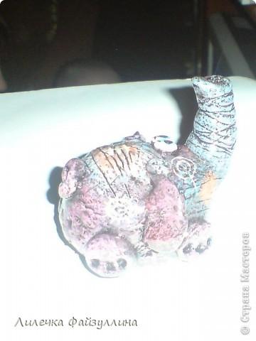 маленький слоник по МК Дианы(ANAID)!очень люблю эту мастерицу!нравится стиль в ее работах!Спасибо всем мастерам за прекрасные МК! фото 3