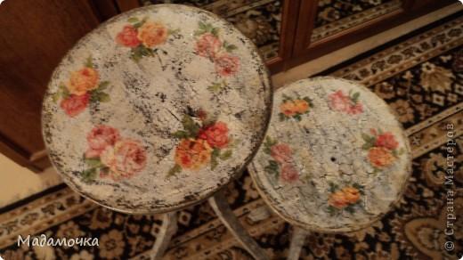 Вот такие две подставочки под цветы я сотворила. Они были просто черные, поэтому не стала показывать их . фото 2
