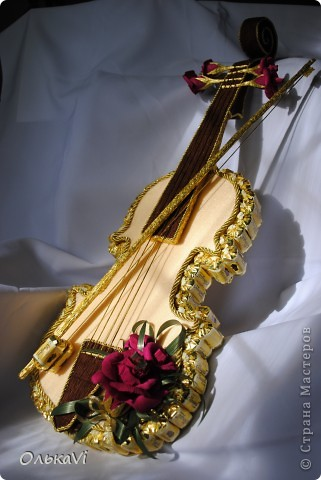 Скрипка получилась большая - 70 см в длину. фото 1