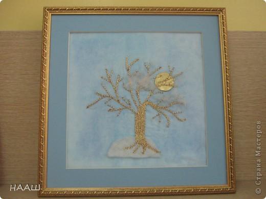 Эту работу выполнила Воробьева Анастасия, когда училась в 9 классе. Вышивка имитирует золотное шитье. Работа кропотливая и требует терпения