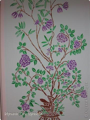Трафаретная роспись стены фото 2
