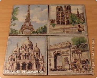 Четыре мини-картины про достопримечательности Парижа фото 1