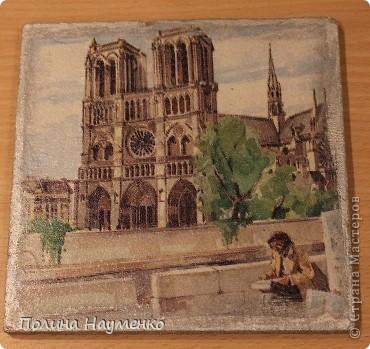 Четыре мини-картины про достопримечательности Парижа фото 5