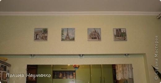 Четыре мини-картины про достопримечательности Парижа фото 6