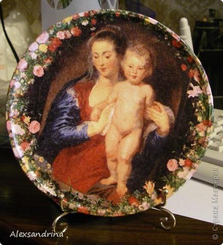 Деревянная тарелочка фото 2