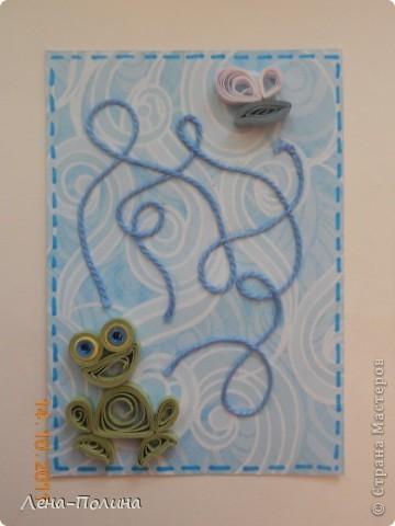 Сделала карточку для Детсада, не удержусь покажу.  Долго думала, что едят лягушки, оказалось матыльков, мой то хоть похож?  фото 1