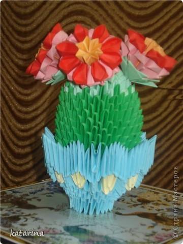 Моя первая работа в технике модульного оригами. фото 1
