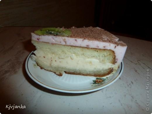 Бисквит с йогуртной-творожной прослойкой фото 3