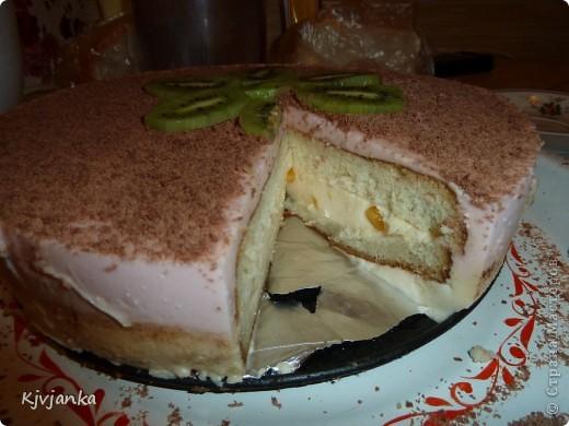 Бисквит с йогуртной-творожной прослойкой фото 4