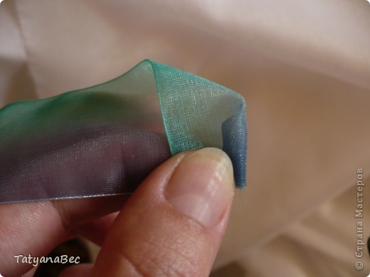 Розочки из ленты фото 4
