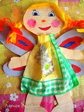 Таких кукол пробовали сделать из бумаги и картона. Девочки делали с восторгом. Особенно понравилояь им заплетать косички.  фото 3