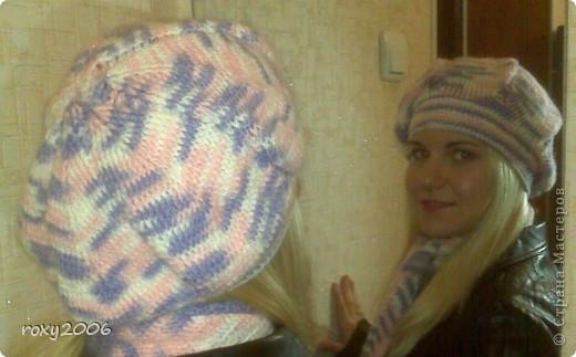 Осенняя пора! Наборчик: берет и шарф. фото 3