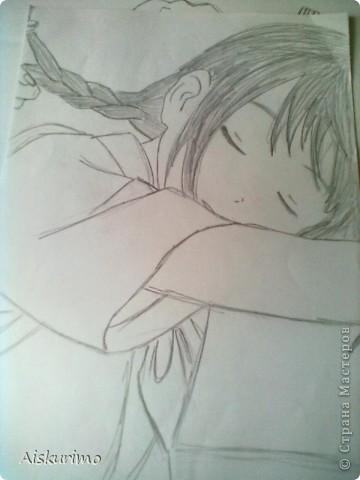 """я все таки решила выложить еще парочку рисунков в стиле аниме,тк очень спешу пока тольк 2,как приду домой еще скину))) харуко из """"фури кури""""^^ фото 2"""