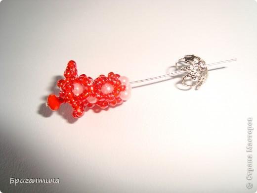 Вот такое интересное плетение решила попробовать. Получился комплект ожерелье + серьги-колокольчики. И опять для мамы :-) фото 28