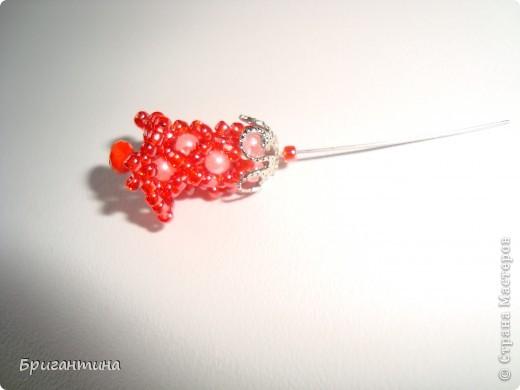 Вот такое интересное плетение решила попробовать. Получился комплект ожерелье + серьги-колокольчики. И опять для мамы :-) фото 29