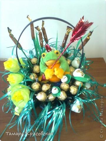 Вот такая жабка ушла в подарок. Конфеты Рошен. фото 1