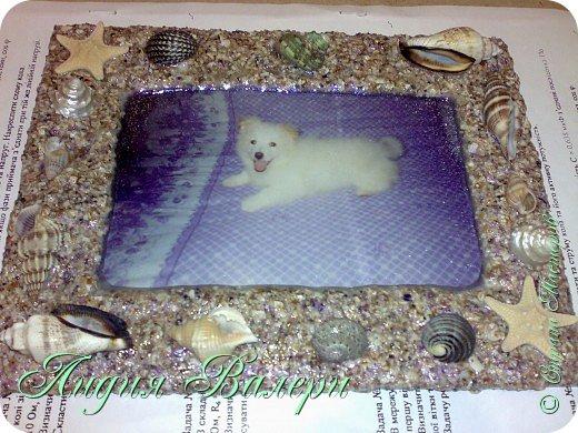Хочу представить Вам свое творение в морском стиле. Рамочка сделана  из морских ракушек и песка. фото 22