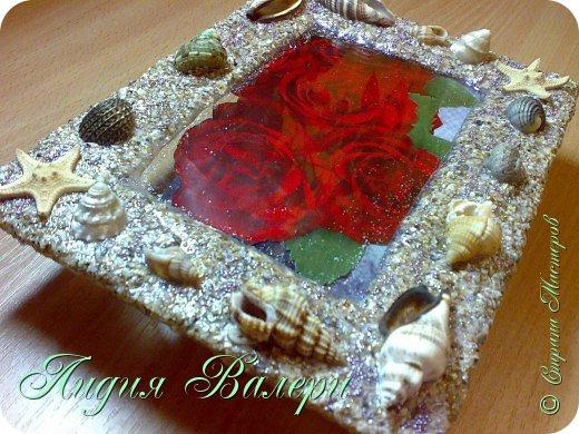 Хочу представить Вам свое творение в морском стиле. Рамочка сделана  из морских ракушек и песка. фото 2