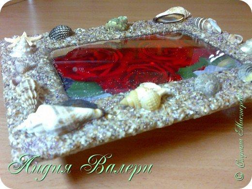 Хочу представить Вам свое творение в морском стиле. Рамочка сделана  из морских ракушек и песка. фото 6