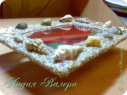 Хочу представить Вам свое творение в морском стиле. Рамочка сделана  из морских ракушек и песка. фото 7