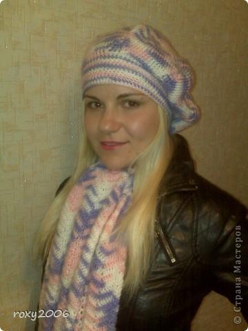 Осенняя пора! Наборчик: берет и шарф. фото 2