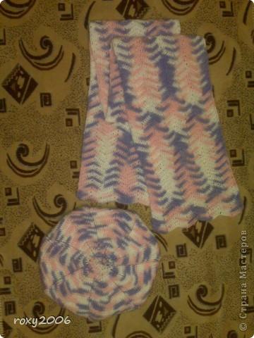 Осенняя пора! Наборчик: берет и шарф. фото 1