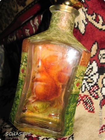 Декупаж  бутылки) фото 4