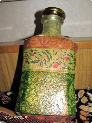 Декупаж  бутылки) фото 3