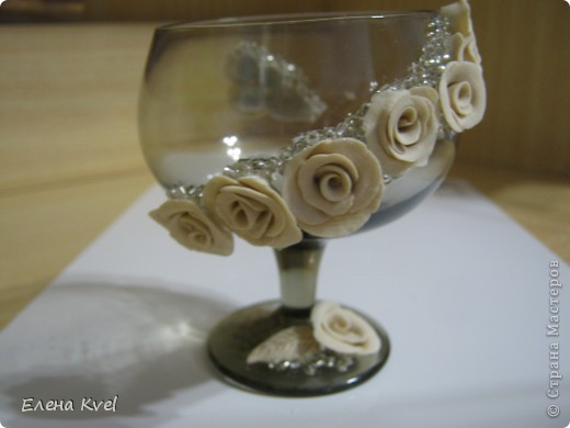 Вот и мой бокальчик.... для лепестков роз)) фото 5