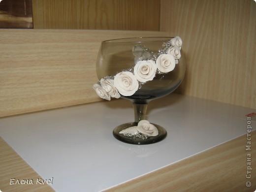 Вот и мой бокальчик.... для лепестков роз)) фото 6