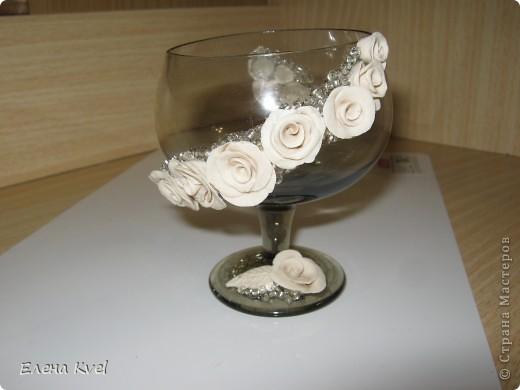 Вот и мой бокальчик.... для лепестков роз)) фото 2