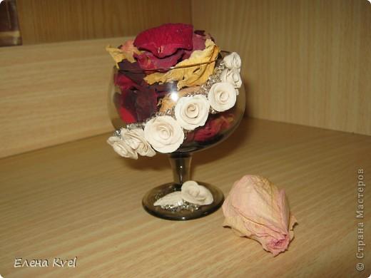 Вот и мой бокальчик.... для лепестков роз)) фото 11
