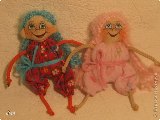 Нашила ещё стайку куклёшек для своих куклёшек:)   фото 4