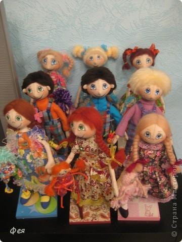 Нашила ещё стайку куклёшек для своих куклёшек:)   фото 12