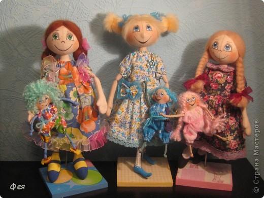 Нашила ещё стайку куклёшек для своих куклёшек:)   фото 7