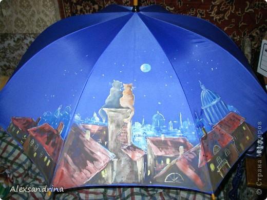 Роспись зонтика ( сделано на мастер классе) фото 1