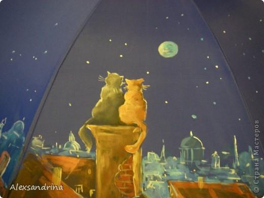 Роспись зонтика ( сделано на мастер классе) фото 2