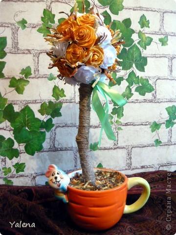 """Всем доброго времени дня!!! Дерево """"Осеннее""""- это мое второе дерево. Высота изделия 50см.  фото 1"""