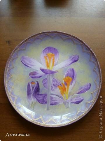Эта скромная тарелочка - конечный результат моих длительных мучений... фото 1