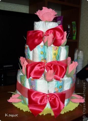Тортик из подгузников фото 3