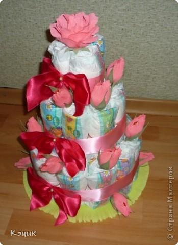 Тортик из подгузников фото 2