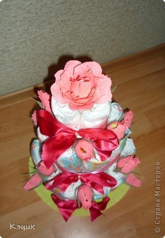 Тортик из подгузников фото 4